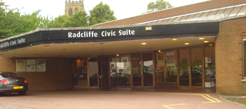 Civic suite in Radcliffe near Bury Greater Manchester